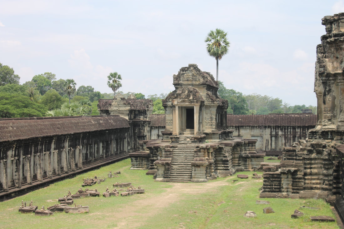 Picture of part of the Angkor Wat temple complex in Cambodia