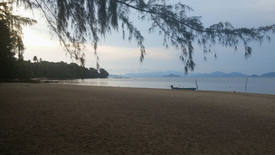 Picture of beach and Gulf of Thailand from Koh Mak island