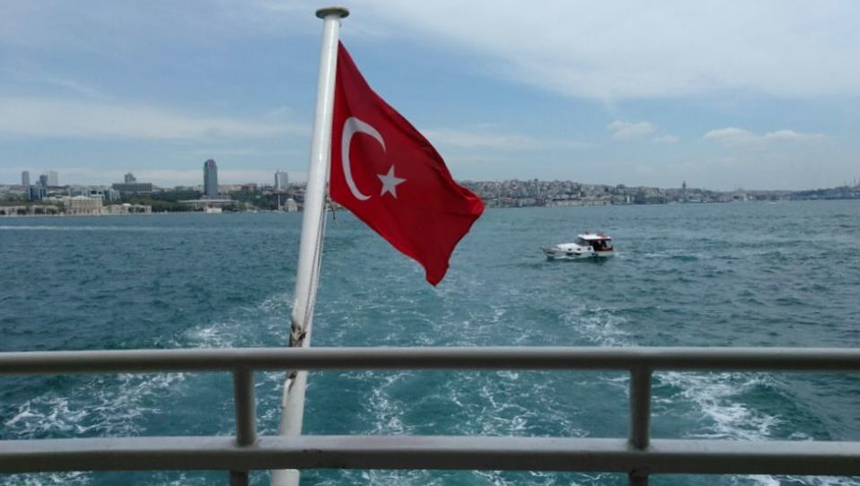 Picture of the Bosphorus Straight from a ferry