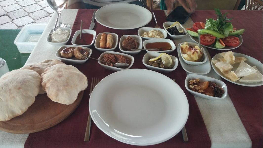 Picture of Turkish country breakfast.