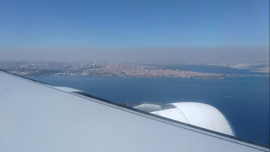 Picture of Istanbul from the aircraft window.